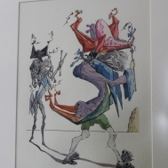 Dali looking similar to Quentin Blake for a minute.