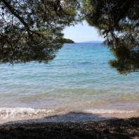Vucine beach! Pebbles and pines!