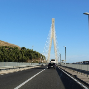 Franjo Tuđman Bridge, where they offer bungee jumping!