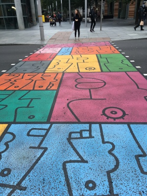 Theirry Noir colourful crossing! He was the first artist to paint on the Berlin wall!