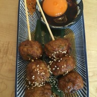This is the tsukune appetizer at Machi-ya.