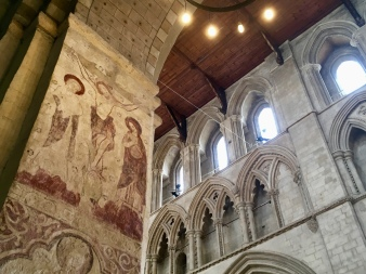 I loved the layers of arches here. The paintings here are medieval.