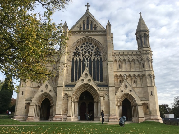 St Albans Cathedral entrance is a beauty