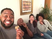 He had to share the cookies with me....and Tracy and Andrae. Yay!