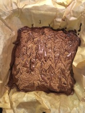 Gluten -free chocolate tahini brownies. Very easy to bake and very easy to eat.