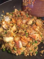 I was surprised we had any bo ssam leftovers, but no worries: BBQ Pork Kimchee fried rice for breakfast!