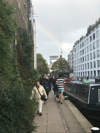 Walking along Regent's Canal with the Grays