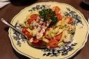 Pasta with langoustine.