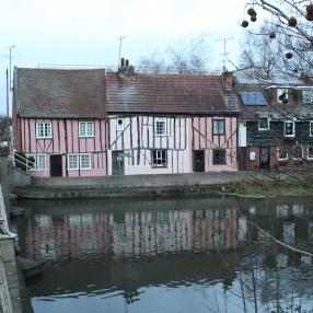 Pink Tudor buildings?!