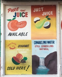 I really liked these hand painted store front signs (image 2)