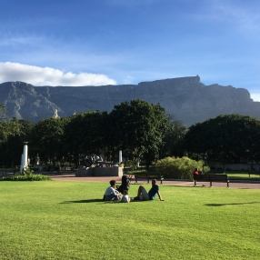 Table Mountain is in the background. Such a relaxing day!