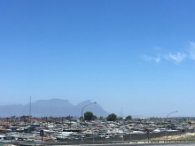 Sprawling Khayelitsha Township, where Sil and Mandel stayed on their George School work/study experience.