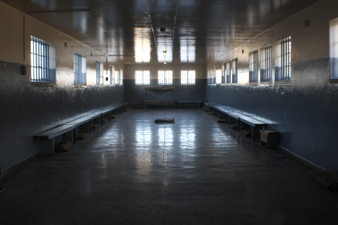 So impressed with my husband's photography talents. This hall is where prisoners waited to be assigned to their cells.