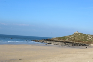 View of the beach from the Tate St Ives