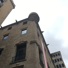 If the crowds in the square got too unruly, guards would pour hot oil down from this tower.