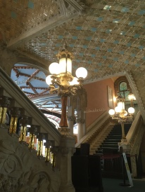 Interior of Palau de la Música Catalana (and we just went to the bathroom in here!)