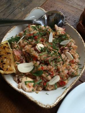 Casa do Frango pulpo rice (too salty)