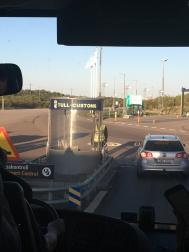Bus across the border from Denmark to Sweden
