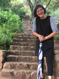 After the long walk up to the look out and back. These steps got nothing on my mom!