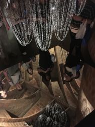 Gaudi hung these chains and then placed a mirror beneath them to establish the structure of his historical cathedral.
