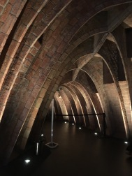 The arches were inspired by the ribcage of a whale.