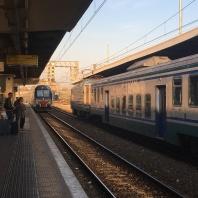 Here comes the train...