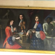 I can't recall ever seeing someone black in a painting during this time period. But it was the first of a few in Florence.