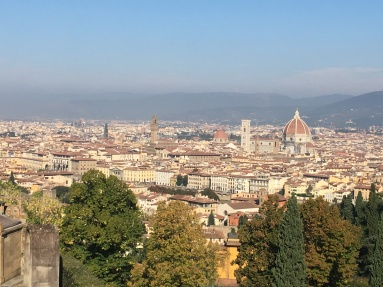 Lookout that is above Piazzale Michaelangelo.
